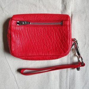 Alexander Wang Red Fumo Wristlet Wallet